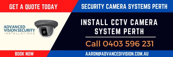 install CCTV Camera System Perth